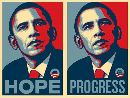 Poster della campagna di Obama 2008 by Shephard Fairey/Obey